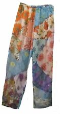 Nwt Sacred Threads funky patch sheer chiffon COVERUP long PANTS 2X defect!
