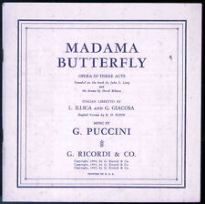 Madama Butterfly 1940s RCA Records Booklet - Puccini