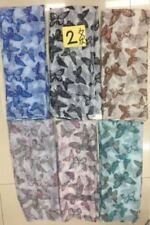 WHOLESALE JOB LOT 12 PCS BUTTERFLY HOT PRINT FLOWER SCARVES PASHMINA SARONG WRAP