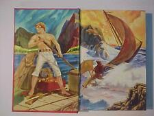 RARE Defoe Robinson Crusoe Illustrated OLD HARDCOVER BOOK Original Antique 1961