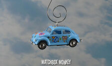 67 Classic Flower Power Peace Hippie Volkswagen Beetle Bug Christmas Ornament VW