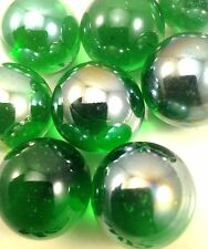 "1"" inch 25mm Glass Marbles LIGHT GREEN SHINY 1 LB 20 PCS 25MM (M02)"