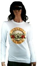 AMPLIFIED GUNS N'ROSES Drum Logo Rock Star Vintage Sweater Langarm T-Shirt S 36