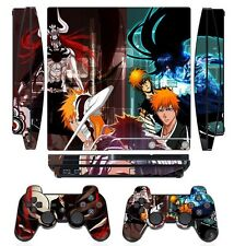Bleach 273 Skin Sticker Cover PS3 PlayStation 3 Slim and 2 controller skins