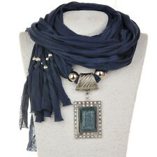 Rectangle Tribal Boho Beads Wrap Classic Jewelry Shawl Scarf Necklace Pendant