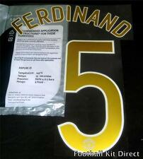 Manchester United Ferdinand 5 06/07 Champions Leaguel Name Set Replica size