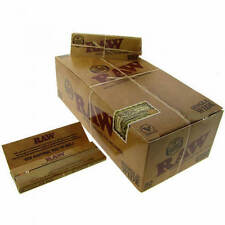 RAW Single Wide 1.0 Natural Hemp Gum Cigarette Rolling Papers - 50 Pack Box