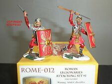 CONTE ROME012 ROME AT WAR ROMAN LEGIONAIRES ATTACKING TOY SOLDIER FIGURE SET 1