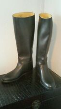 Aigle Horse riding boots Black rubber rain women size 7N usa made in France 37