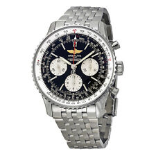 Breitling Navitimer 01 Black Dial Chronograph Stainless Steel Mens Watch