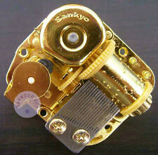 "Play ""Unchained Melody"" Golden Plated Sankyo Musical Movement for DIY music box"