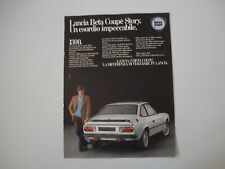 advertising Pubblicità 1982 LANCIA BETA COUPE' 1300