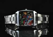 DC SUPER HEROES JUSTICE LEAGUE BATMAN SUPERMAN WRIST STEEL WATCH Fashion GDC