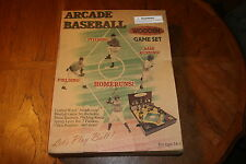 NIB Rare Lets Play Ball ARCADE BASEBALL Wooden Table Top Game Set NEW