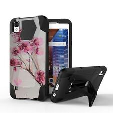 Shockproof Rugged Case w/Stand Cover for LG Tribute HD X Style LS676 L56VL L53BL