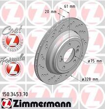 ZIMMERMANN 150.3453.70 / 150.3454.70 REAR SPORT BRAKE DISCS PAIR (FORMULA Z)