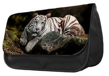 White Tiger Pencil Case / Make up bag 005