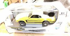 1/18 ERTL AMERICAN MUSCLE 1970 FORD MUSTANG GRABBER YELLOW