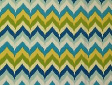 "MILL CREEK GLAMIS SPA BLUE GREEN ZIG ZAG CHEVRON OUTDOOR FABRIC BY THE YARD 54""W"