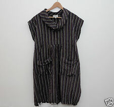 Masai Clothing Company dress size Large purple black stripes striped Lagenlook t