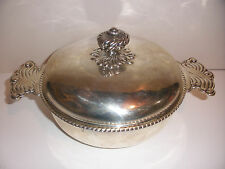 Rare Beautiful Vintage Tiffany and Co sterling silver covered round dish