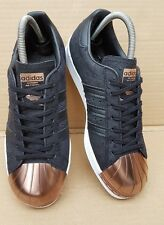 IMMACULATE ADIDAS SUPERSTAR METAL TOE TRAINERS BLACK AND ROSE GOLD IN SIZE 5 UK
