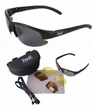 Mens/womens Black POLARISED SUNGLASSES For Day & Anti Glare Driving at Night
