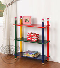 PENCIL THEMED KIDS SHELVING UNIT/BOOKCASE/CHILDRENS/BEDROOM/STORAGE/CRAYON