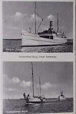 27367 Foto AK Ostseebad Burg Fehrmann Dampfer Fehrmann u. Segler 1937 PC Ship