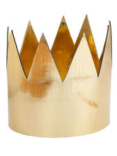 Royal Gold Crown Adults Fancy Dress Mens Ladies King & Queen Nativity Accessory