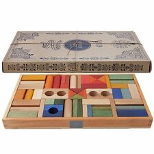 Wooden Story Blocks Rainbow Blocks Tray of 54 made in Poland All Natural Paint