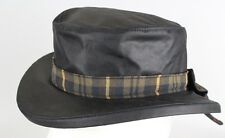 NEW Oxford Blue Ladies Thelma Wax Hat With Bow on Back Check Cotton Linning