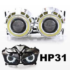 LED Angel Halo Eyes HID Projector Kit for Yamaha YZF R3 2015+ Headlight White