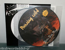 RUNNING WILD - UNDER JOLLY ROGER PIC LP PICTURE DISC VINYL RECORD DIECUT RARE EX