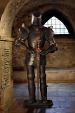 Dark Authentic Knight Suit Of Armour sword and stand 185CM