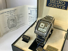 Seiko G757-5000 Silver Wave James Bond Octopussy HorseShoe Face Vintage Watch