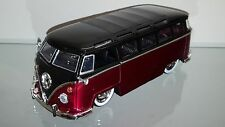 1/24 JADA 1962 VOLKSWAGEN 23 WINDOW SAMBA BUS CANDY RED AND WHITE