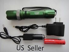 800 LM 50W LED rechargable Torch Zoomable flashlight Lamp green 760 US Seller