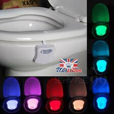 Bathroom LED Toilet Seat Light Auto-sensing Motion Activated Night Lamp 8 Colors