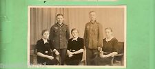 #EE. WWII  GERMAN  POSTCARD - TWO YOUNG MEN IN UNIFORM