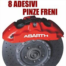 adesivi pinze freni abarth tuning stickers brake auto 8 pezzi