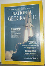 NATIONAL GEOGRAPHIC OCT 1981 COLUMBIA;FIRST FLIGHT;INDIAN OCEAN;PAKISTAN;MONO LK