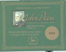 Vintage John Deere Heritage Collection Certificate of Authenticity John's Home