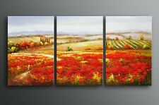 Framed Oil Painting On canvas Hand painted Rural Tuscan Landscape Palette Knife