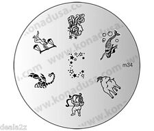 KONAD STAMPING NAIL ART DESIGN TEMPLATE IMAGE PLATE M34