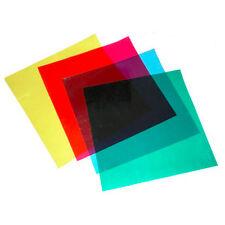 """4 x 12"""" Color Gel Filter for Photo Studio Flash Strobe Speedlite Lighting Kit"""