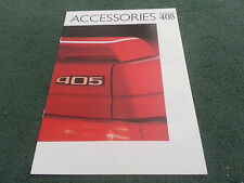 1987 / 1988 PEUGEOT 405 SALOON ACCESSORIES - UK COLOUR BROCHURE