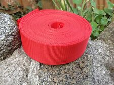 Red 50mm 2 Inch Nylon Webbing x 10 Meters