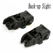 Tactical Folding Airsoft Front and Rear Back-Up Sight for 20mm Rail Mounts