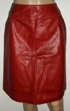 DANIER RED LEATHER SKIRT, ROCK CHICK, ROCK'N'ROLL, ROCKABILLY, RETRO, 1950's